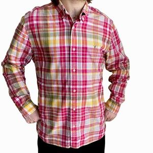 American Eagle Outfitters Shirt Button Down Long Sleeve Madras Plaid XL